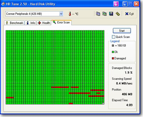 hdtune errorscan Monitor Hard Drive Health with HDTune